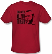 Rocky Kids T-shirt Kill You To Death Clubber Lang Youth Red Tee Shirt