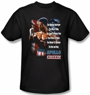 Rocky Kids T-shirt One And Only Apollo Creed Youth Black Tee Shirt