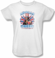 Rocky Ladies T-shirt Apollo Creed Classic White Tee Shirt