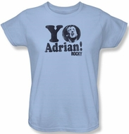 Rocky Ladies T-shirt Yo Adrian Classic Light Blue Tee Shirt