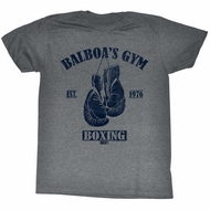 Rocky Shirt Balboa's Gym Athletic Heather T-Shirt
