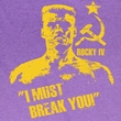 Rocky Shirt I Must Break You Adult Purple Heather Tee T-Shirt