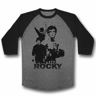 Rocky Shirt Raglan Silhouette Black/Athletic Heather Shirt