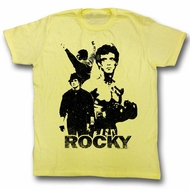 Rocky Shirt Silhouettes Yellow T-Shirt