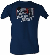 Rocky T-Shirt - Beat The Meat Adult Navy