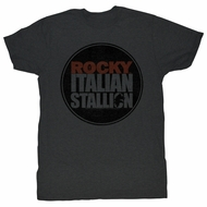 Rocky T-shirt Boxer Rocky Seal Adult Charcoal Tee Shirt