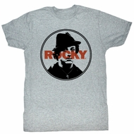 Rocky T-shirt Boxer Stamped Adult Heather Grey Tee Shirt
