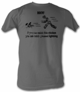 Rocky T-shirt Catch This Classic Adult Charcoal Tee Shirt