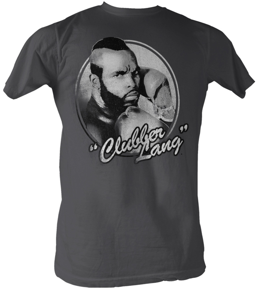 rocky t shirt clubber lang classic adult charcoal tee shirt rocky adult shirts. Black Bedroom Furniture Sets. Home Design Ideas