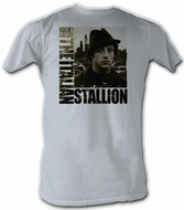Rocky T-shirt In The City Classic Adult Silver Tee Shirt