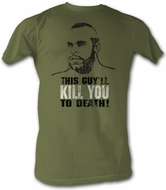 Rocky T-shirt Kill You To Death Adult Army Green Tee Shirt