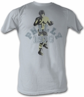 Rocky T-shirt Philly 1976 Classic Adult Silver Tee Shirt