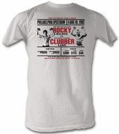 Rocky T-shirt Rocky VS Clubber Poster Adult Dirty White Tee Shirt