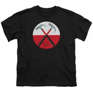 Roger Waters Kids Shirt The Wall Hammers Black T-Shirt