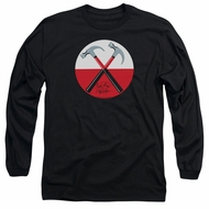 Roger Waters Long Sleeve Shirt The Wall Hammers Black Tee T-Shirt
