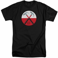 Roger Waters Shirt The Wall Hammers Black Tall T-Shirt