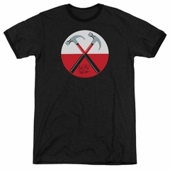 Roger Waters The Wall Hammers Black Ringer Shirt