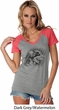Rottweiler Sketch Ladies Contrast V-Neck Shirt