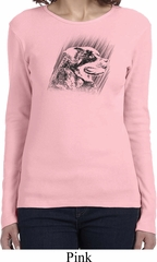 Rottweiler Sketch Ladies Long Sleeve Shirt