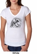 Rottweiler Sketch Ladies Tri Blend V-Neck Shirt