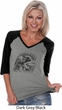 Rottweiler Sketch Ladies V-Neck Raglan Shirt