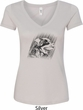 Rottweiler Sketch Ladies V-Neck Shirt