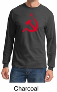 Russian Shirt Hammer and Sickle Red Print Adult Long Sleeve Shirt