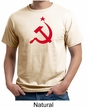 Russian Shirt Hammer and Sickle Red Print Adult Organic T-shirt