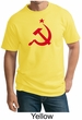 Russian Shirt Hammer and Sickle Red Print Adult Tall T-shirt