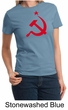 Russian Shirt Hammer and Sickle Red Print Ladies T-shirt