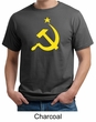 Russian Shirt Hammer and Sickle USSR Adult Organic T-shirt