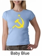 Russian Shirt Hammer and Sickle USSR Ladies Crew Neck Shirt