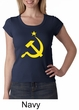 Russian Shirt Hammer and Sickle USSR Ladies Scoop Neck Shirt