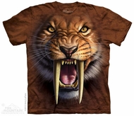 Sabertooth Tiger T-shirt Tie Dye Adult Tee