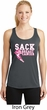Sack Breast Cancer Ladies Dry Wicking Racerback Tank Top