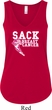 Sack Breast Cancer Ladies Flowy V-neck Tanktop