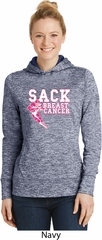 Sack Breast Cancer Ladies Moisture Wicking Hoodie