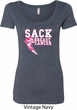 Sack Breast Cancer Ladies Scoop Neck Shirt