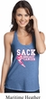 Sack Breast Cancer Ladies T-Back Tank Top