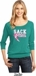 Sack Breast Cancer Ladies Three Quarter Sleeve Scoop Neck Shirt