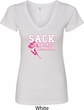 Sack Breast Cancer Ladies V-Neck Shirt