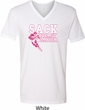Sack Breast Cancer Mens V-Neck Shirt