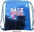 Sack Breast Cancer Tie Dye Bag