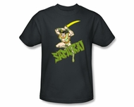 Samurai T-shirt - Samurai Super Friends Adult Charcoal Gray Tee