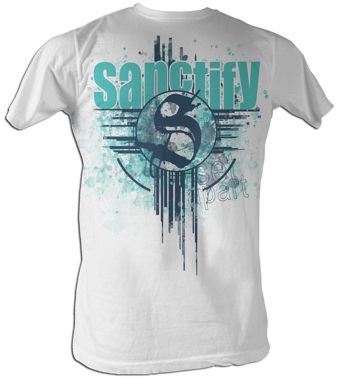 sanctify christian t shirt set apart adult white tee shirt