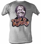 Sanford and Son T-shirt Redd Foxx Sanford Graffiti Grey Tee Shirt