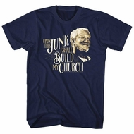 Sanford & Son Shirt Junk Church Navy T-Shirt
