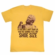 Sanford & Son Shirt Shoe Size Gold T-Shirt