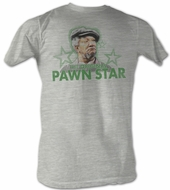 Sanford & Son T-shirt Redd Foxx Pawn Star3 Adult Grey Tee Shirt