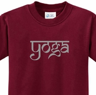 Sanskrit Yoga Text Kids Yoga Shirts